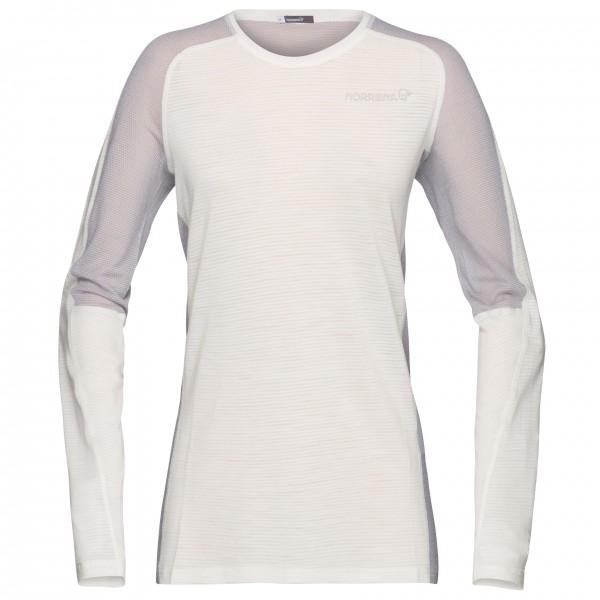 #Norrøna – Women's Bitihorn Wool Shirt – Merinounterwäsche Gr L;M;S;XS blau;weiß/grau#