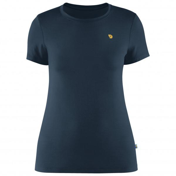 Fjllrven - Womens Bergtagen Thinwool S/s - Merino Base Layer Size Xl  Black/blue