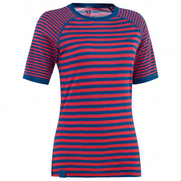 Kari Traa - Womens Smale Tee - Merino Base Layer Size M  Pink/blue/red/purple