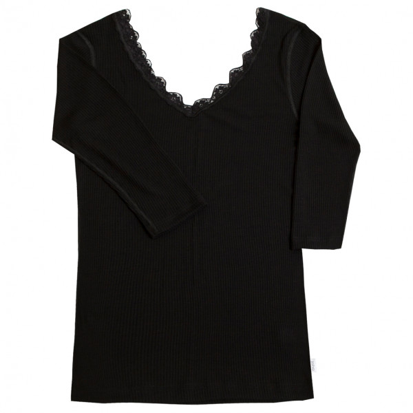 Joha - Womens Blouse L/s 70/30 - Merino Base Layer Size Xl  Black