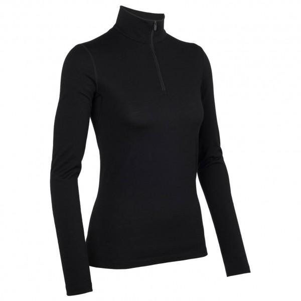 Icebreaker Oasis LS Half Zip women Funktionsunterhemd Damen schwarz Gr. L - broschei