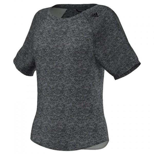 Adidas Women´s Beyond The Run Shirt Joggingshirt maat 36, grey