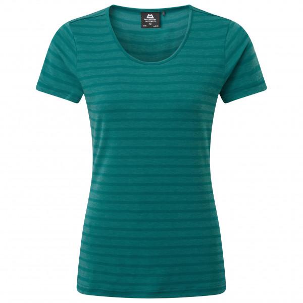 Mountain Equipment - Womens Groundup Stripe Tee - T-shirt Size 10  Turquoise