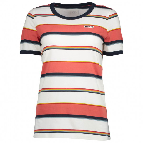 Maloja - Women´s TonschieferM. T-Shirt Gr M grau/schwarz;weiß/grau/rot