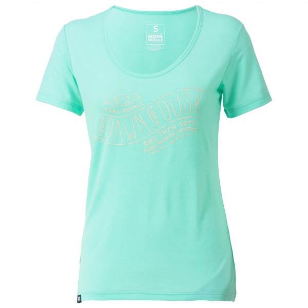 Mons Royale - Women's Charlie Scoop Tee Dawn To Dusk Gr XS türkis