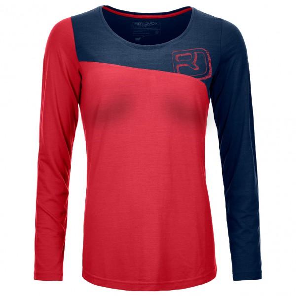 Ortovox - Women´s 150 Cool Logo Long Sleeve Longsleeve Gr S;XS blau/rot;rot Sale Angebote Drieschnitz-Kahsel
