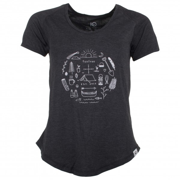tentree - Women´s Circle T-Shirt Gr XS blau;schwarz