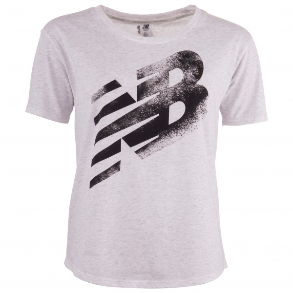 New Balance - Women's Heather Tech Graphic Tee - T-Shirt Gr L weiß