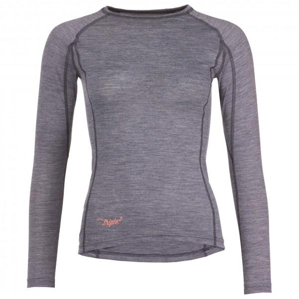Triple2 - Women's Lang Shirt - Longsleeve Gr XS grau