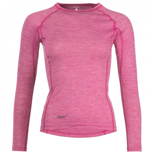 Triple2 - Women's Lang Shirt - Longsleeve Gr M rosa