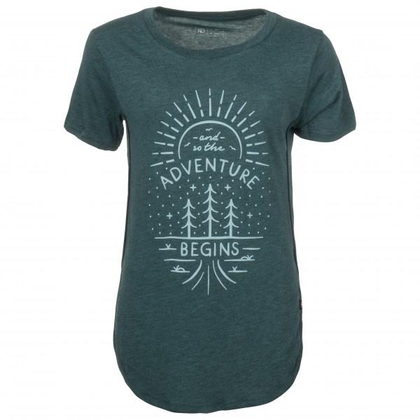 tentree - Women´s Adventure Begins - T-shirt taille L, noir/turquoise