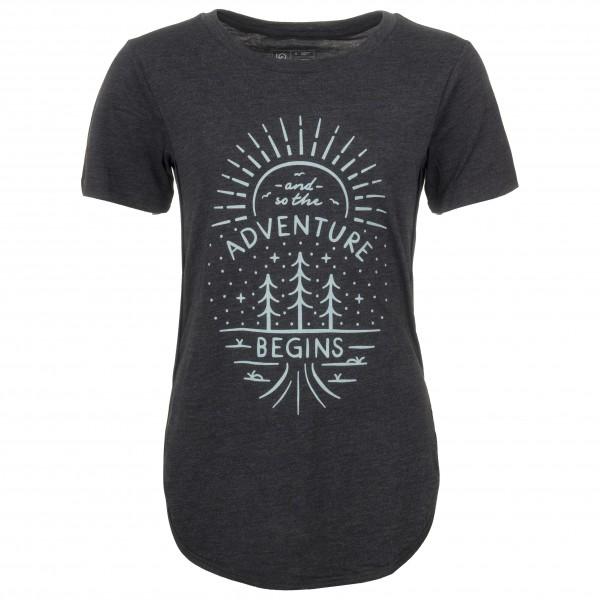 tentree - Women´s Adventure Begins - T-shirt taille L, noir;noir/turquoise