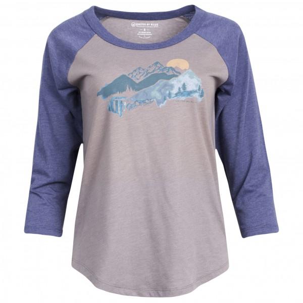 United By Blue - Women's Mountain Drift - Longsleeve Gr M grau/blau