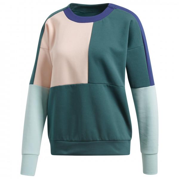 adidas - Women´s ID Glory Colourblock Crew - Funktionsshirt Gr L;M;XS türkis/grau/schwarz;schwarz/lila