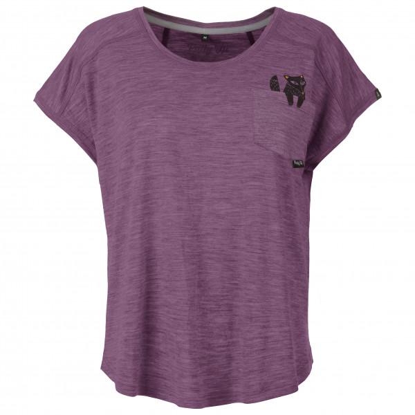Pallyhi - Womens Loose Top Foxy Lady - T-shirt Size Xs  Pink/purple