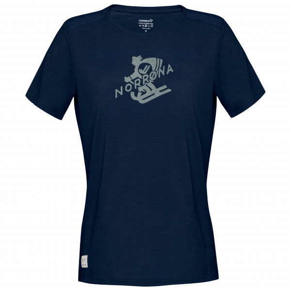 #Norrøna – Women's Svalbard Wool T-Shirt – T-Shirt Gr XS blau#