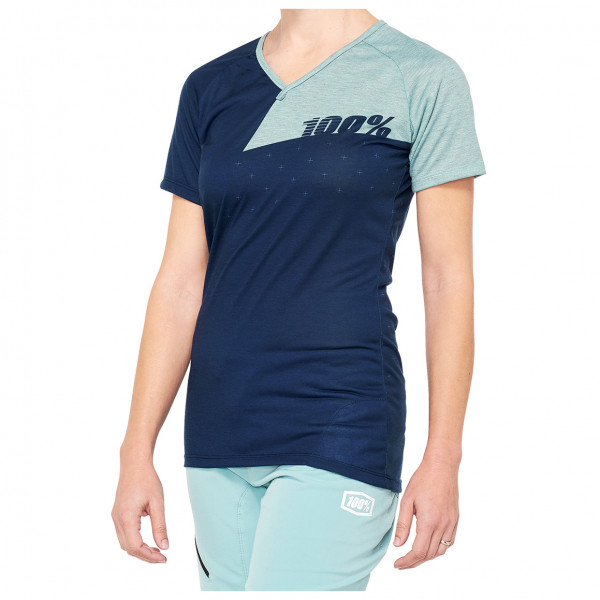 #100% – Women's Airmatic Jersey – Funktionsshirt Gr L blau/grau/beige#