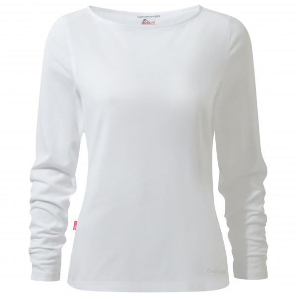 Craghoppers - Womens Nosilife Erin Long Sleeved Top Ii - Longsleeve Size 36  Grey/white