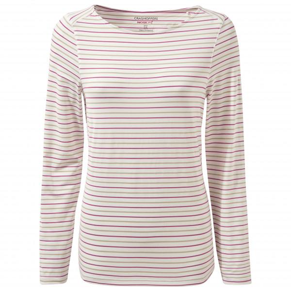Craghoppers - Womens Nosilife Erin Long Sleeved Top Ii - Longsleeve Size 44  Grey/white