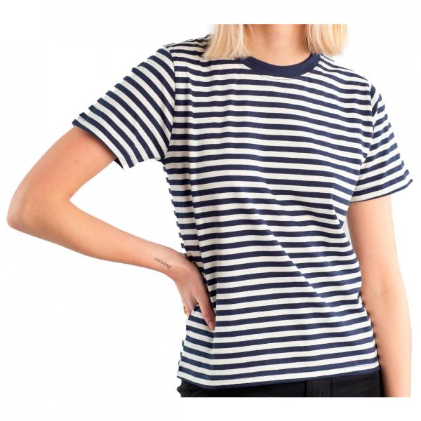 Dedicated - Womens Mysen Stripes - T-shirt Size Xs  Grey/sand/black/white