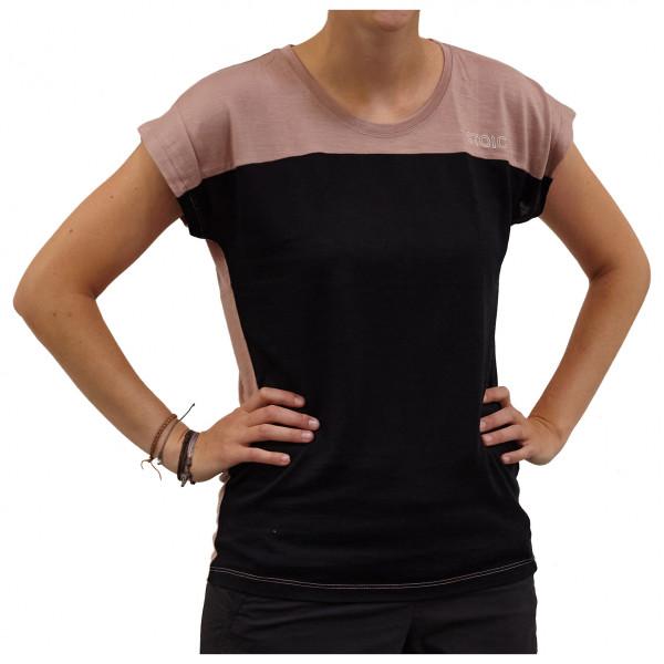Stoic - Womens T150 Merino Mesh S/s Bergslagenst. - Sport Shirt Size L  Black
