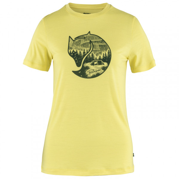 Fjllrven - Womens Abisko Wool Fox S/s - Merino Shirt Size M  Yellow/orange