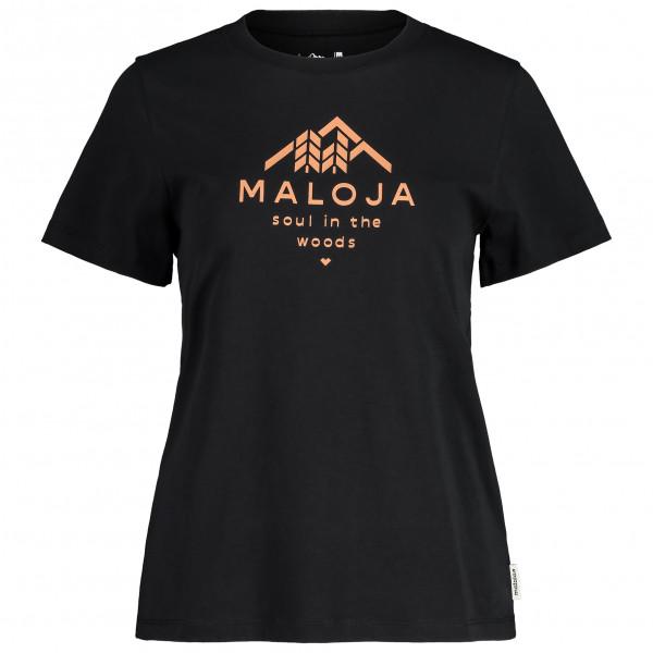 Maloja - Womens Platanem. - T-shirt Size S  Black
