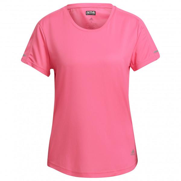 Adidas - Womens Run It Tee - Sport Shirt Size S  Red/pink
