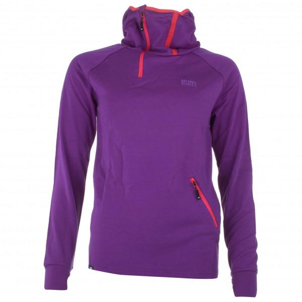 Mons Royale - Women's 1/4 Zip Hoody - Hoodie size S, purple