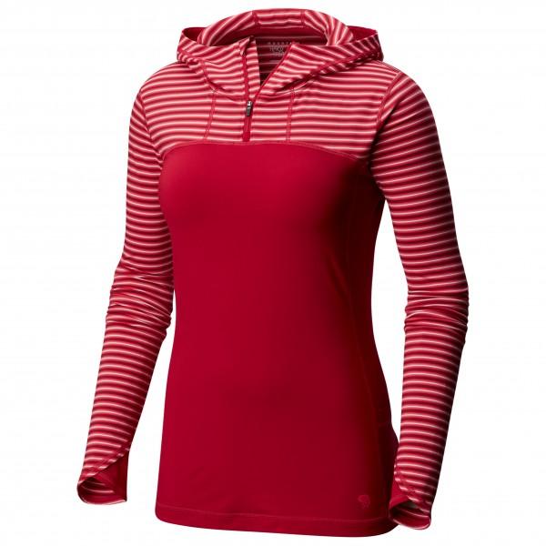 Mountain Hardwear - Women's Butterlicious Long Sleeve Hoody Gr XS rot/rosa