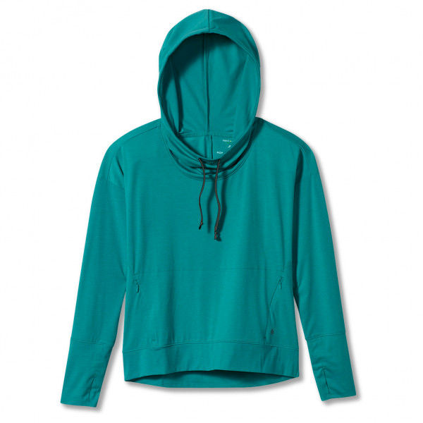 royal robbins - women's bug barrier round trip drirelease hoody - hoodie maat xs, turkoois