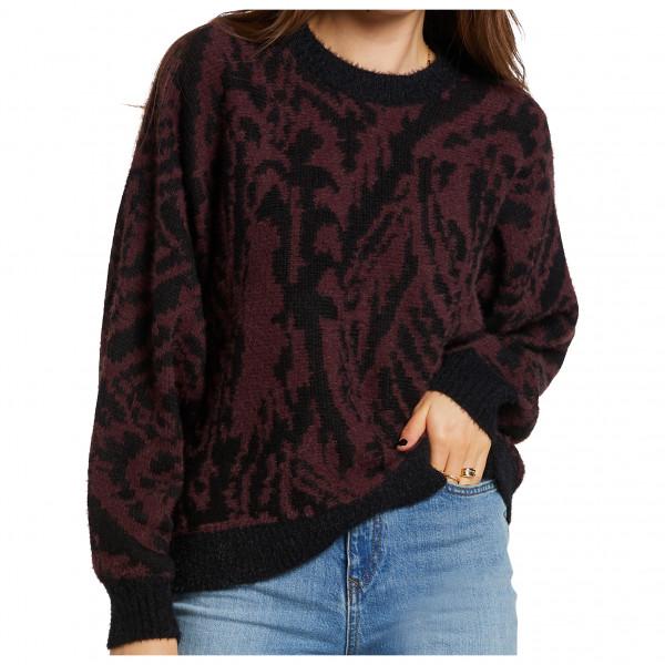 volcom - women's in a meowment sweater - trui maat s, zwart/purper