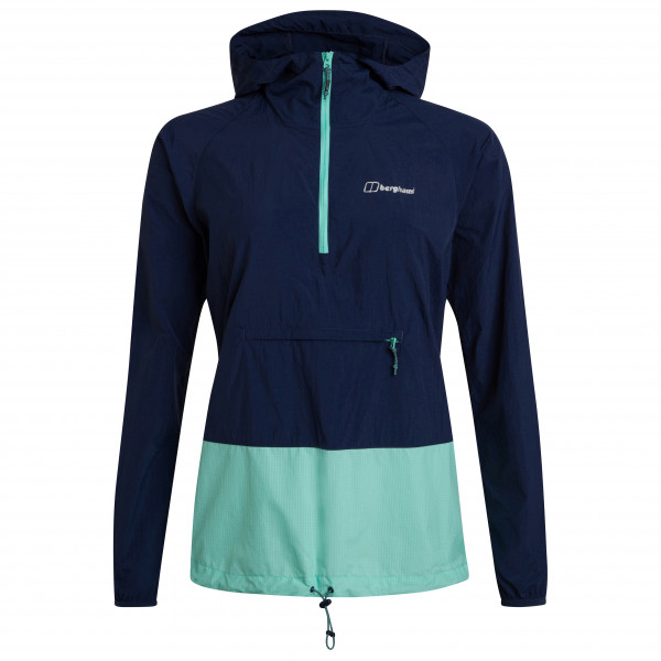 Berghaus - Womens Skerray Waterproof Halfzip - Windproof Jacket Size 12  Blue/black/turquoise