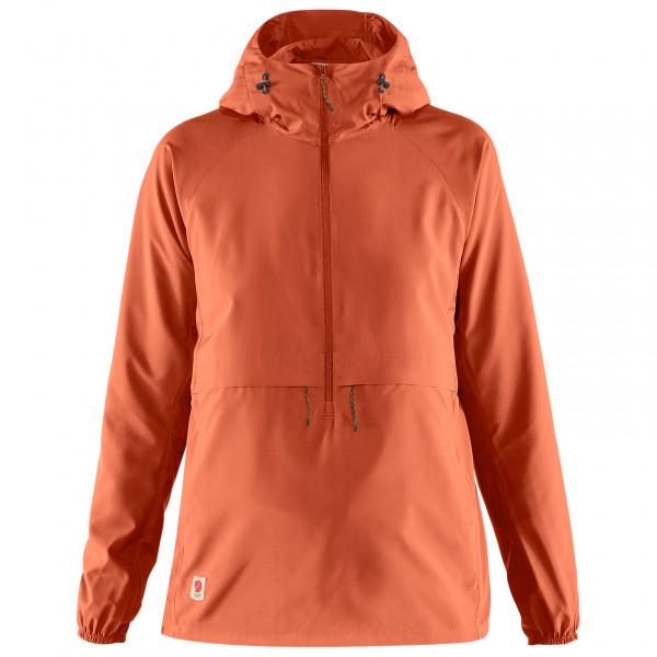 Fjllrven - Womens High Coast Lite Anorak - Windproof Jacket Size S  Red/orange
