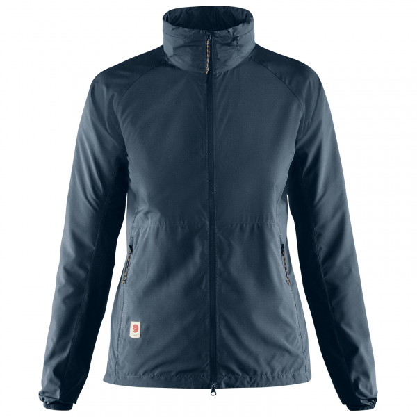 Fjllrven - Womens High Coast Lite Jacket - Windproof Jacket Size S  Blue/black