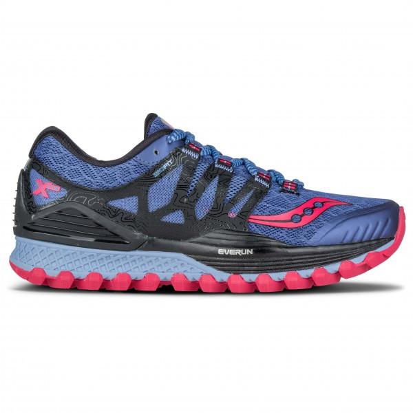 Saucony Women�s Xodus Iso Trailrunningschoenen maat 7 zwart-blauw-grijs