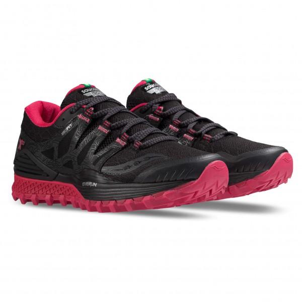 Saucony Women�s Xodus Iso Trailrunningschoenen maat 7 zwart-roze