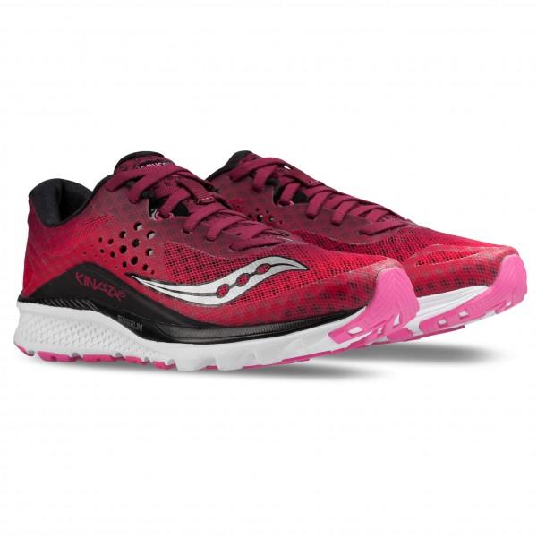 Saucony Women�s Kinvara 8 Trailrunningschoenen maat 6 rood-roze-grijs-purper