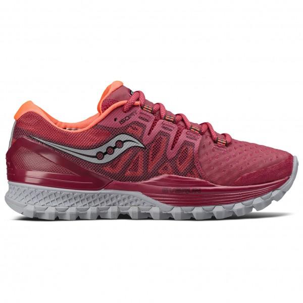 Saucony Women�s Xodus Iso 2 Trailrunningschoenen maat 8,5 rood-grijs-roze