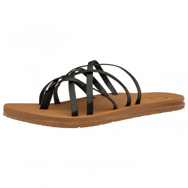 volcom - women's e-cliner multi strap - sandalen maat 36, bruin
