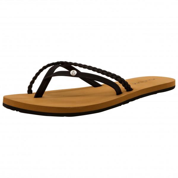 volcom - women's thrills ii sndl - sandalen maat 5, bruin