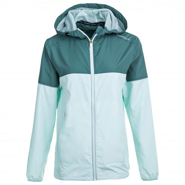 Endurance - Womens Agria Jacket W/hood - Running Jacket Size 34  Grey/turquoise