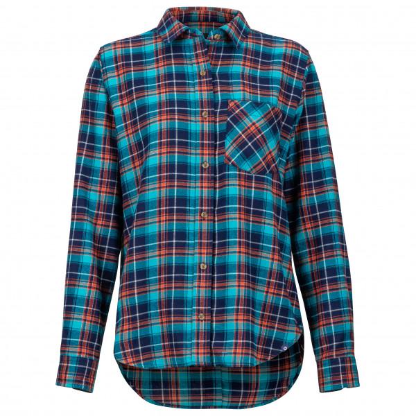 Marmot - Women's Maggie Midwight Flannel L/S - Overhemd, blauw/turkoois