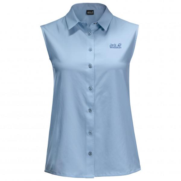 Jack Wolfskin - Womens Sonora Sleeveless Shirt - Blouse Size Xs  Grey/blue
