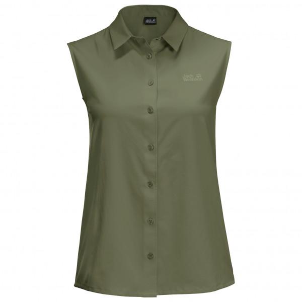 Jack Wolfskin - Womens Sonora Sleeveless Shirt - Blouse Size L  Olive