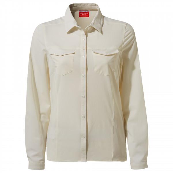 Craghoppers - Women's Nosilife Pro L/S Shirt - Bluse Gr 34;36;38;40;42 grau/weiß CWS497