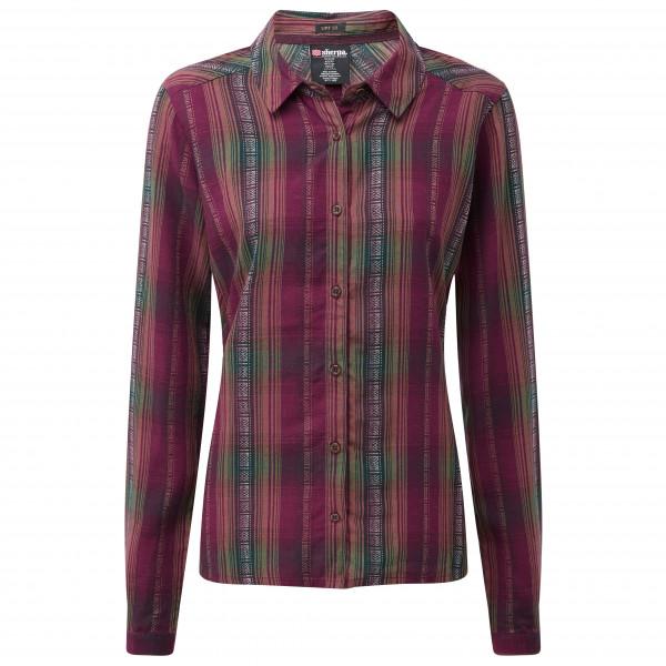 Sherpa - Women's Rupa Shirt - Hemd Gr M lila/rot SW3153