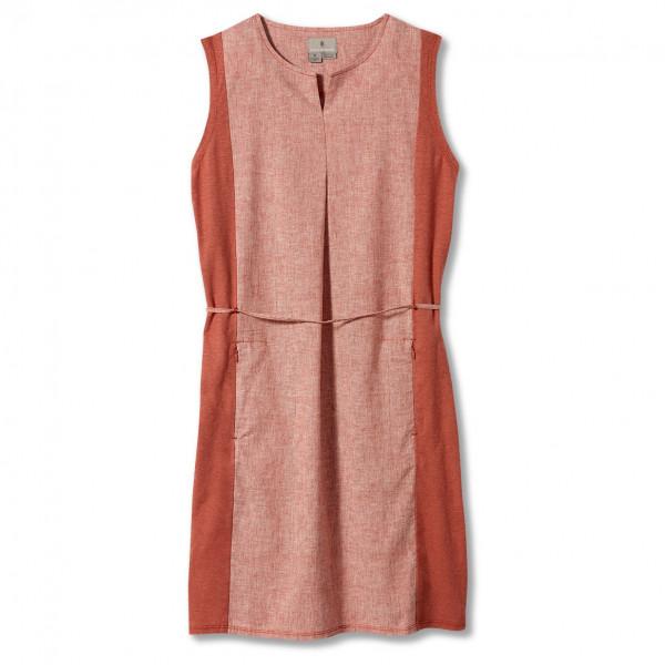 royal robbins - women's hempline dress - jurk maat m, beige/rood