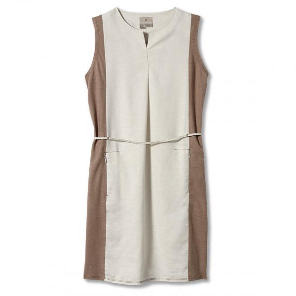 royal robbins - women's hempline dress - jurk maat xs, wit/grijs