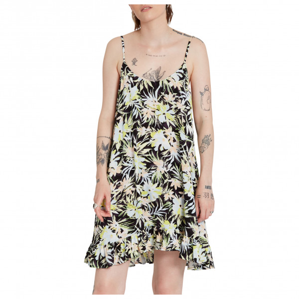 Volcom - Womens Thats My Type Dress - Dress Size L  Sand/grey